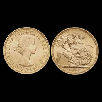 monete d'oro elisabetta