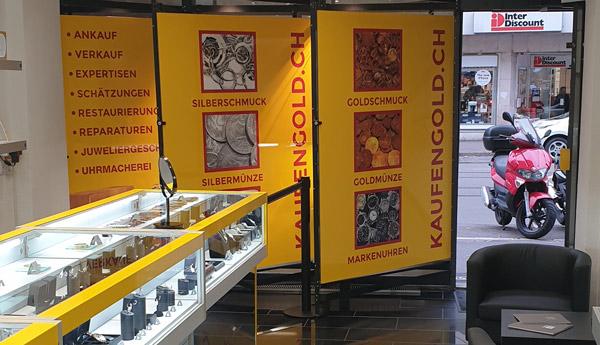 negozio di acquisto di oro a Basilea