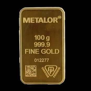 Lingotto d'oro da 100 grammi