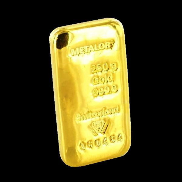 Lingotto d'oro da 250 grammi