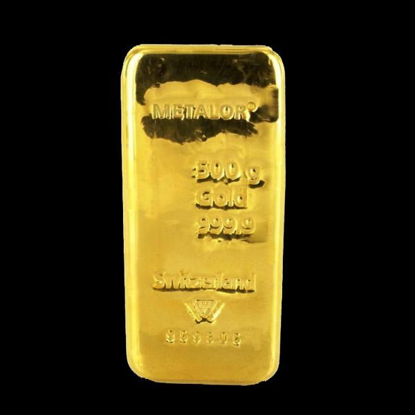 lingotto d'oro 500 grammi