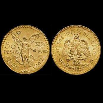 monete d'oro 50 pesosv