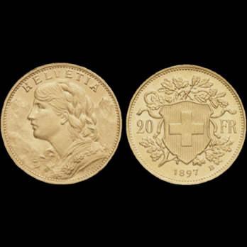 Monete d'oro svizzere verneli